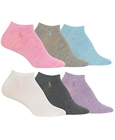 Polo Ralph Lauren Women's Flat Knit Ultra Low-Cut Socks 6-Pk.