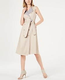 Calvin Klein Sleeveless Trench Coat Dress