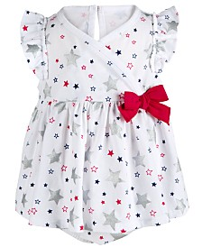 First Impressions Baby Girls Printed Cotton Skirted Romper, Created for Macy's