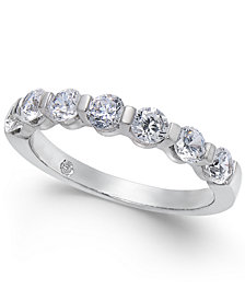 Diamond Station Band Ring (1 ct. t.w.) in 14k White Gold