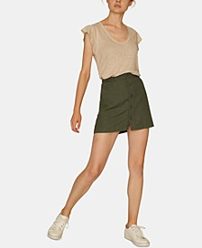 Surplus Button-Front Mini Skirt