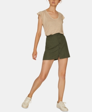 Sanctuary Skirts SURPLUS BUTTON-FRONT MINI SKIRT