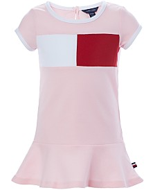 Tommy Hilfiger Baby Girls Colorblocked Flag Logo Knit Dress