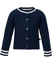86091a286d32 Tommy Hilfiger Baby Girls Cable-Knit Cotton Cardigan