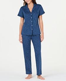 Sesoire Printed Knit Cotton Pajama Set