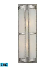Trevot 1-Light Outdoor Wall Mount in Sunset Silver - LED, 800 Lumens (1600 Lumens Total) with Full Scale Dimming Range