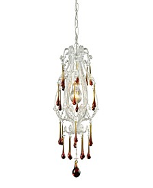 Opulence 1-Light Pendant in Antique White