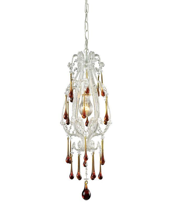 ELK Lighting Opulence 1-Light Pendant in Antique White