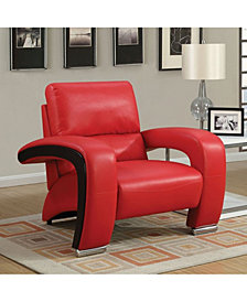 Benzara Comfortable Leatherette Chair