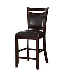 Benzara Classic Wooden Armless High Chair, Set of 2