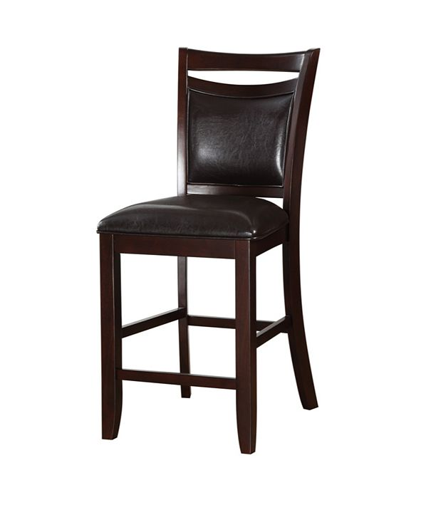 Benzara Classic Wooden Armless High Chair, Set of 2