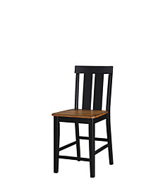 Benzara Rubber Wood High Chair, Set of 2