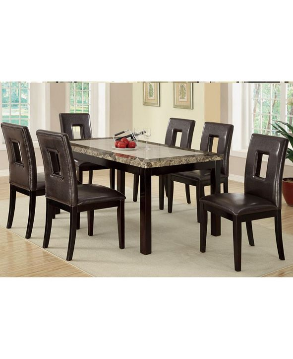 Benzara Upholstered Pine Wood Dining Chairs, Set of 2