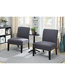 Benzara Transitional Style Accent Table And Chair Set