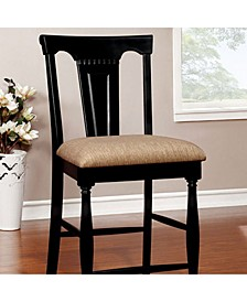 Cottage Counter Height Chair with Fabric Cushion, Set of 2
