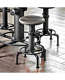 Benzara Industrial Counter Hydrant Chair Set of 2
