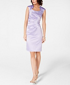 Satin Starburst Sheath Dress