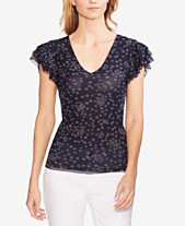 d0343b7337ca77 Vince Camuto Floral-Print Ruffled-Sleeve Top
