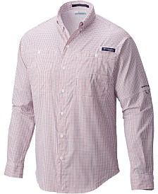 Columbia Men's PFG Super Tamiami Grid Pattern Shirt