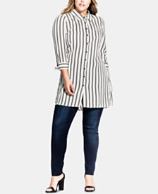 City Chic Plus Size So Stripy Tunic