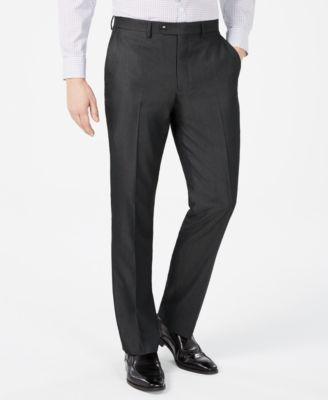 Men's Slim-Fit Twill Suit Pants
