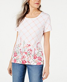 Trellis-Print T-Shirt, Created for Macy's