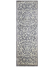 """Downtown HG325 Gray 2'6"""" x 8' Runner Area Rug"""