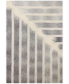 """Downtown HG370 Ivory/Gray 5'6"""" x 8'6"""" Area Rug"""