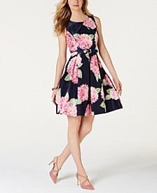 Floral-Print Fit & Flare Dress