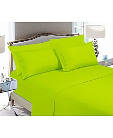 Elegant Comfort 3-Piece Luxury Soft Solid Bed Sheet Set Twin/Twin XL