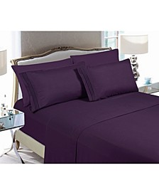3-Piece Luxury Soft Solid Bed Sheet Set Twin/Twin XL