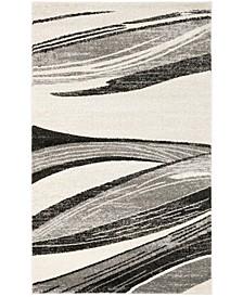 Retro Light Gray and Ivory 4' x 6' Area Rug