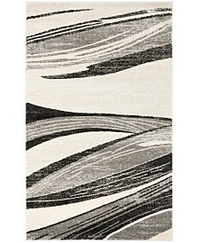 Safavieh Retro Light Gray and Ivory 4' x 6' Area Rug