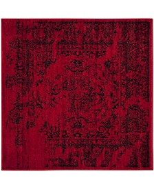 Safavieh Adirondack Red and Black 6' x 6' Square Area Rug