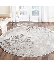Safavieh Adirondack Silver and Ivory 8' x 8' Round Area Rug