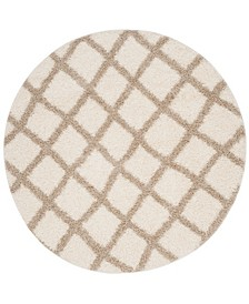 Dallas Ivory and Beige 6' x 6' Round Area Rug