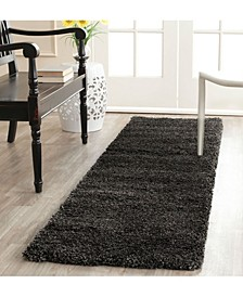 Shag Dark Grey 2' x 12' Runner Area Rug
