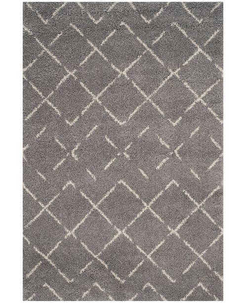 Safavieh Arizona Shag Gray and Ivory 8' x 10' Area Rug