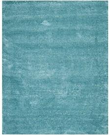 Shag Aqua Blue 11' x 16' Rectangle Area Rug