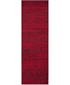 """Adirondack Red and Black 2'6"""" x 22' Area Rug"""