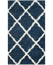 """Montreal Blue and Ivory 2'3"""" x 5' Area Rug"""