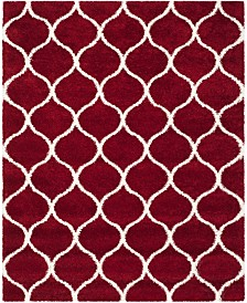 Safavieh Hudson Red and Ivory 8' x 10' Area Rug
