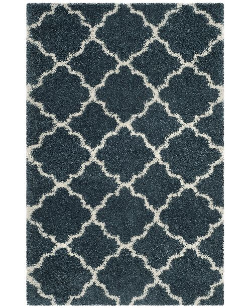 "Safavieh Hudson Slate Blue and Ivory 5'1"" x 7'6"" Area Rug"