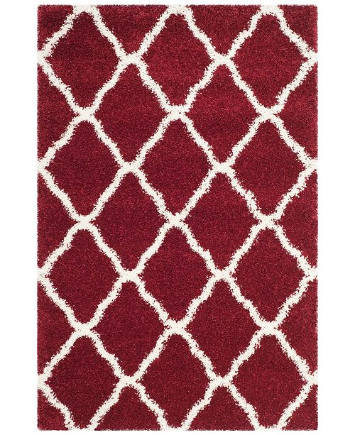 """Safavieh Hudson Red and Ivory 5'1"""" x 7'6"""" Area Rug"""