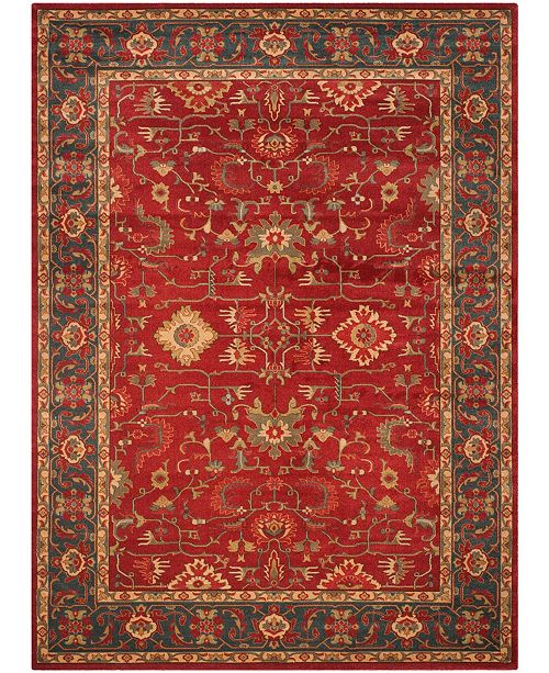 Safavieh Mahal Red and Navy 8' x 10' Area Rug