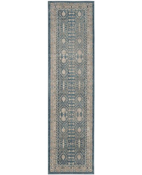 "Safavieh Sofia Blue and Beige 2'2"" x 6' Runner Area Rug"
