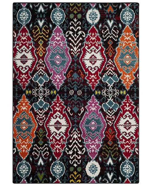 Safavieh Cherokee Black and Red 4' x 6' Area Rug