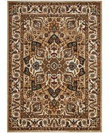 Summit Beige and Ivory 4' x 4' Square Area Rug