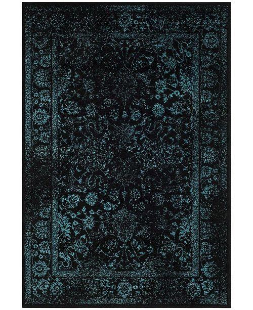 Safavieh Adirondack Black and Teal 6' x 9' Area Rug