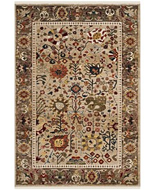 Kashan Beige and Taupe 9' x 12' Area Rug